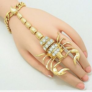 Scorpion Ring Chain Bracelet